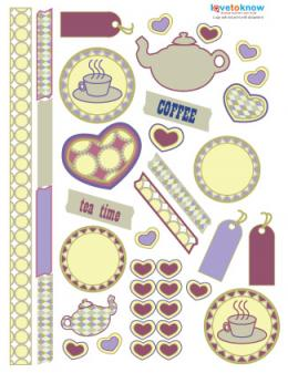 digital scrapbook stickers