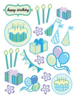 birthday scrapbook stickers