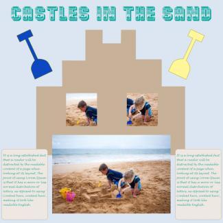 sandcastle scrapbook page