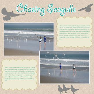 chasing seagulls scrapbook page