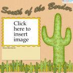 cactus scrapbook layout
