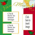 Mexico flag scrapbook layout
