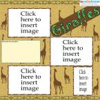 giraffe scrapbook layout