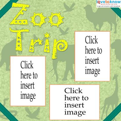 zoo trip scrapbook layout