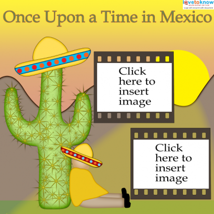 Mexico scrapbook layout sombrero