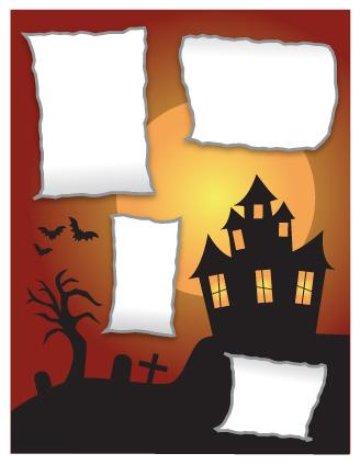Haunted house scrapbook layout