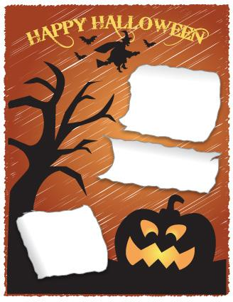 halloween scrapbook layout to print