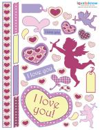 love scrapbook stickers