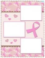 breast cancer scrapbook layout 2