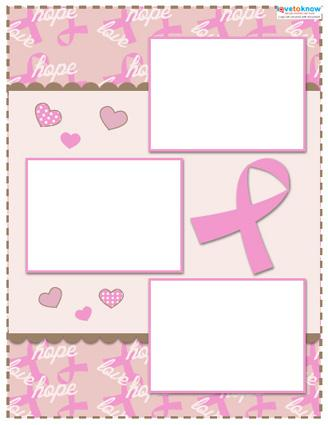 templates for scrapbooking to print - breast cancer awareness scrapbook layouts lovetoknow