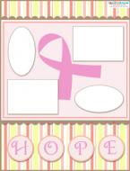 breast cancer scrapbook layout 3