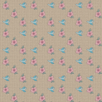 Tan flowers and birds scrapbook paper