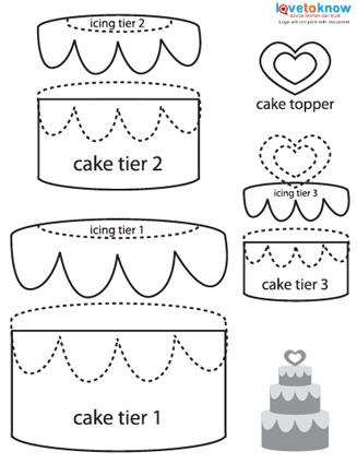 Paper piecing wedding cake