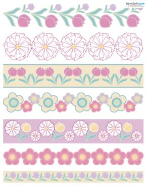 floral scrapbook borders
