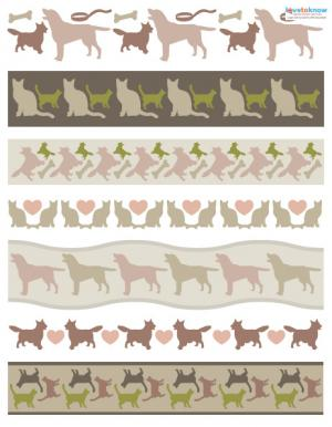 cats and dogs scrapbooking border