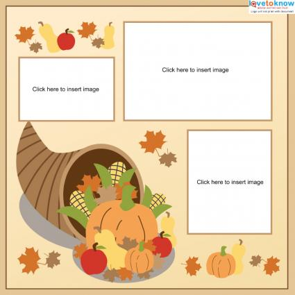 Thanksgiving Cornucopia page