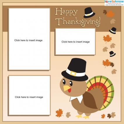 Thanksgiving Scrapbook Page
