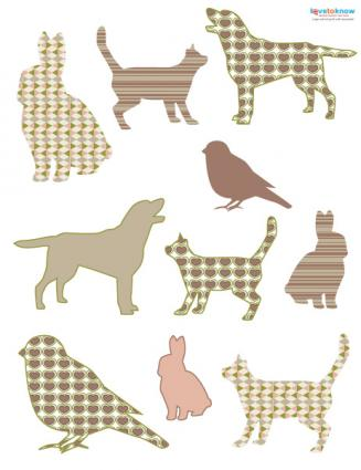 Animal die cuts