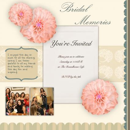 single page scrapbook layout