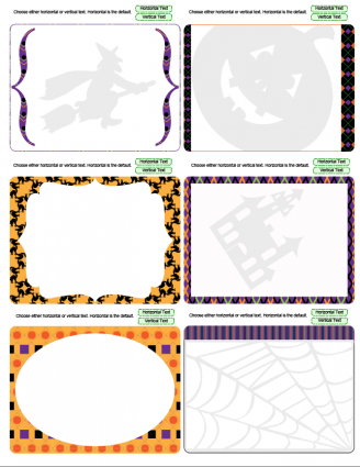 Halloween theme journal cards