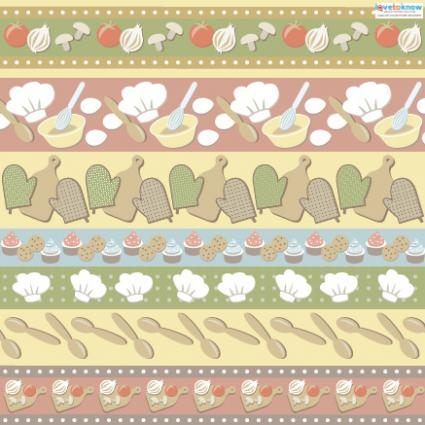 Kitchen scrapbook paper 3