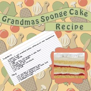 recipe scrapbook page