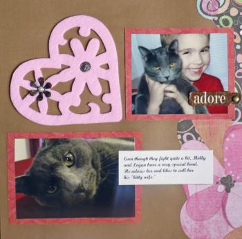 scrapbook page using felt trivets