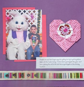 scrapbook page with belt embellishment