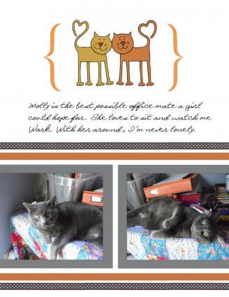 cat scrapbook layout