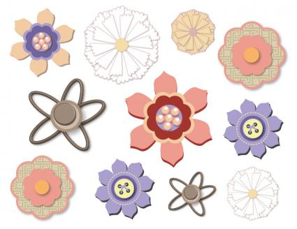 Downloadable Digital Scrapbooking Flowers primary2