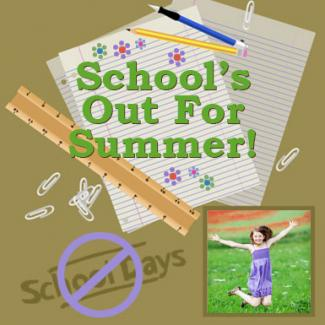 School's Out for Summer Scrapbook page