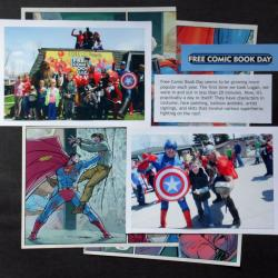 comic book page scrapbook layout
