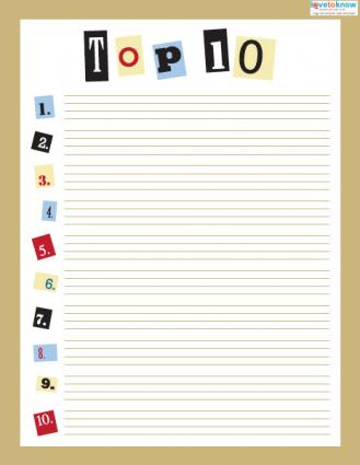 Top 10 Smash Book - 8 1/2 x 11