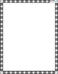 Printable Scrapbooking Borders Fleur de Lis 1