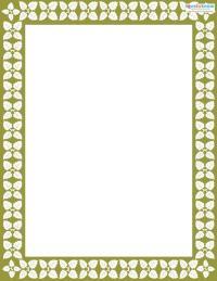 Printable Scrapbooking Borders vines 1
