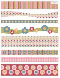 patterned scrapbooking border