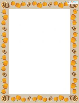 Free Thanksgiving Scrapbook border 2