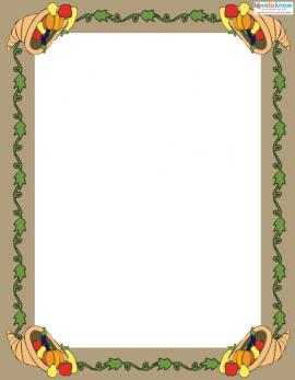 Free Thanksgiving Scrapbook border 1