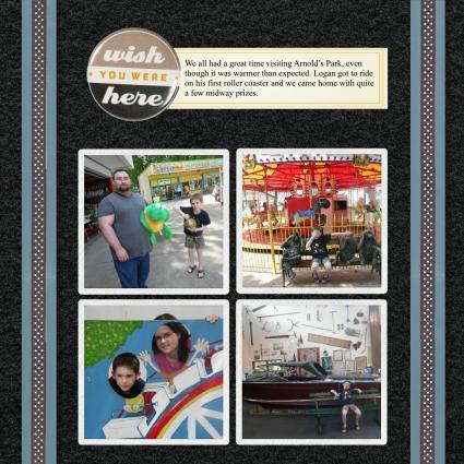 black scrapbook page