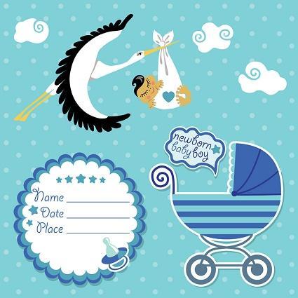 Baby boy invitation paper