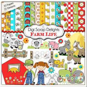 Farm Life scrapbook kit