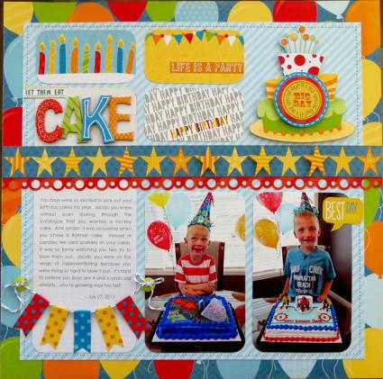 Let them eat cake scrapbook theme