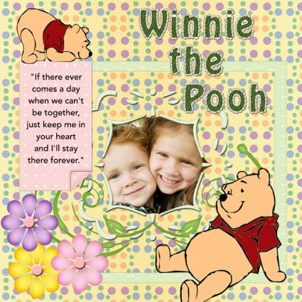 winnie the pooh scrapbook page