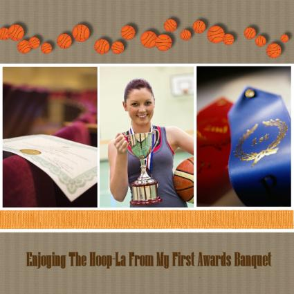 basketball scrapbook layout