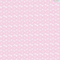 Lace Patterned Paper 3 pink