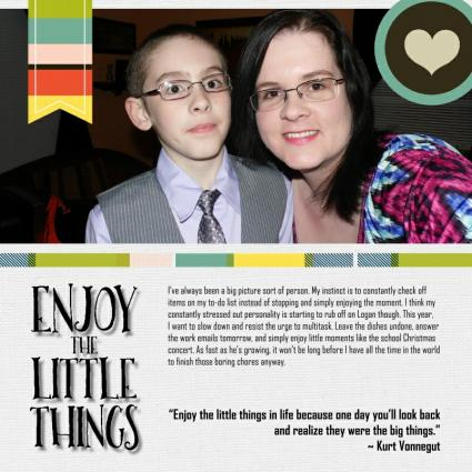 enjoy the little things scrapbook page