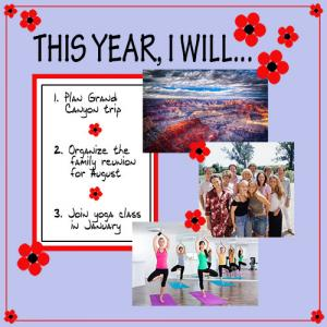 This Year, I Will scrapbook page