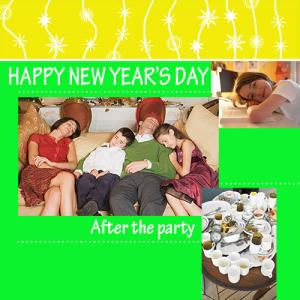 After the New Year's Party scrapbook page