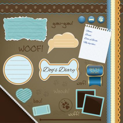 Dog scrapbook page layout
