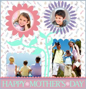 Flower Mother's Day scrapbook page